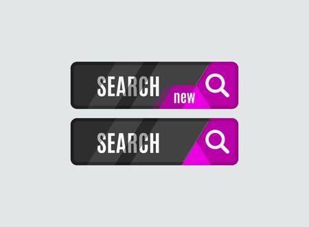 search button: Search button, futuristic hi-tech UI design.  Illustration