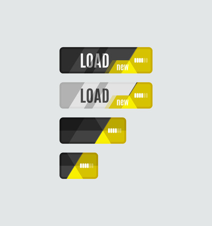 ui: Load button, futuristic hi-tech UI design.  Illustration