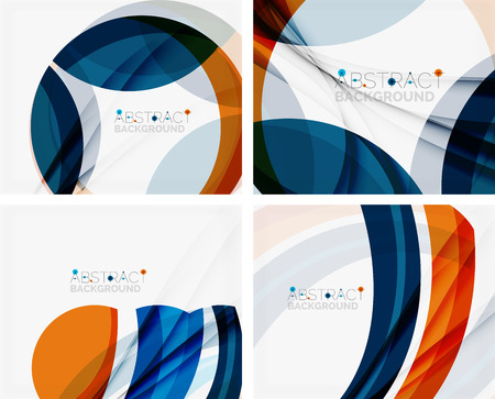 web design template: Blue and orange color shapes.  Illustration