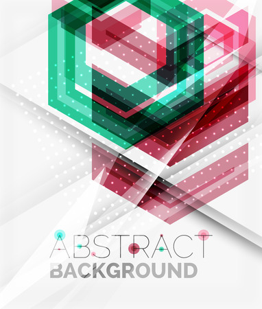 background cover: Geometric abstract background.