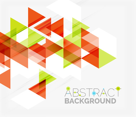 overlapping: Abstract geometric Modern overlapping triangles. Illustration