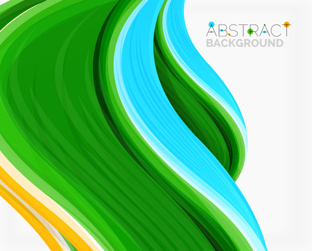 sample environment: Abstract realistic solid wave background. Vector illustration