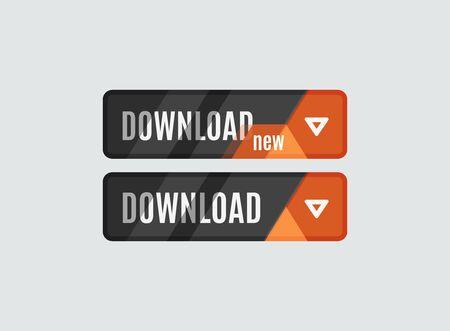 ui: Download button, futuristic hi-tech UI design. Website, mobile applications icon, online design, business, gui or ui