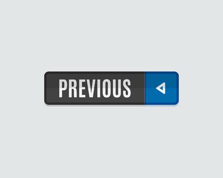 Botón de la web anterior, de vuelta. Diseño moderno plana, gráfico papel, web icono y elementos de diseño Ilustración de vector