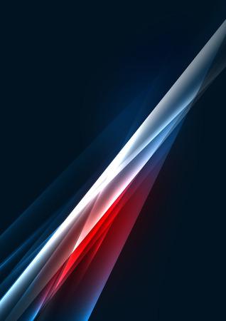 Abstracte kleuren gloeiende lijnen in een donkere ruimte met sterren en lichteffecten. Futuristische achtergrond met copyspace voor uw bericht