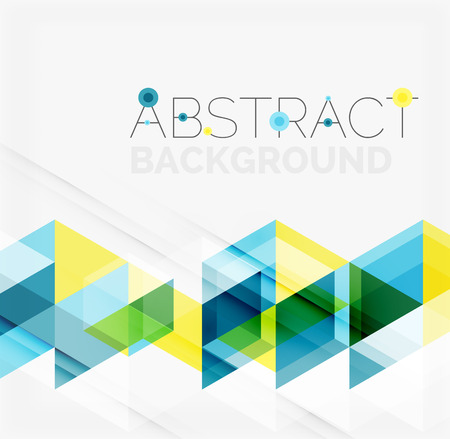 Abstract geometric background. Modern overlapping triangles. Unusual color shapes for your message. Business or tech presentation, app cover template Фото со стока - 43984630