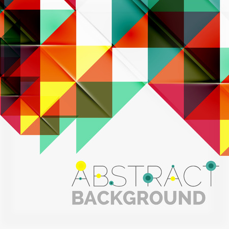 technology banner: Abstract geometric background. Modern overlapping triangles. Unusual color shapes for your message. Business or tech presentation, app cover template