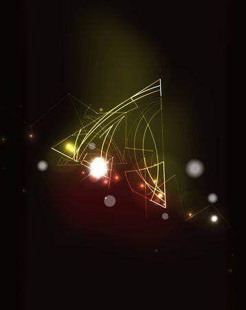 fondo elegante: Glowing elementos y colores de mezcla en el espacio oscuro. Ilustraci�n del vector. Resumen de antecedentes