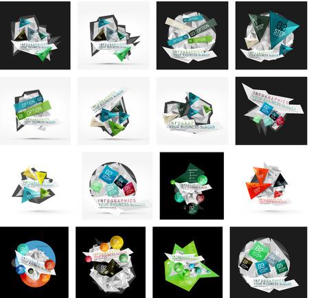 various: Set of various universal geometric layouts