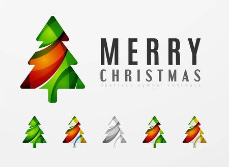Conjunto de iconos abstractos del árbol de navidad Foto de archivo - 44925294