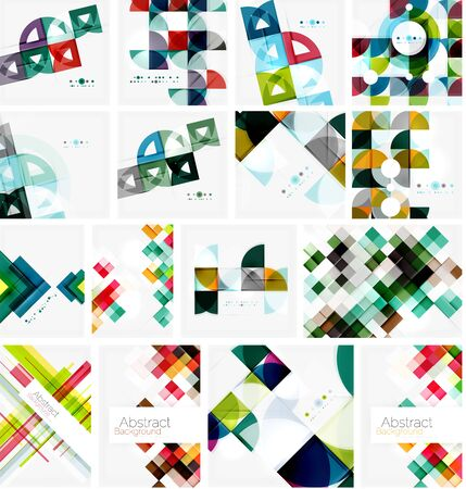 technology banner: Set of triangle geometric abstract backgrounds. Universal business or technology templates, banners, identity layouts