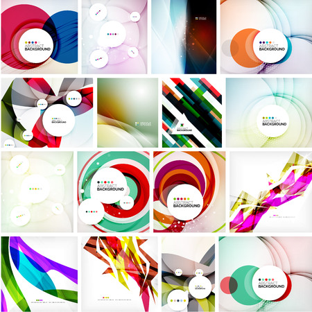 abstract swirls: Set of abstract backgrounds. Circles, swirls and waves with copyspace for your message. Banner advertising layouts - templates, identity and wallpapers