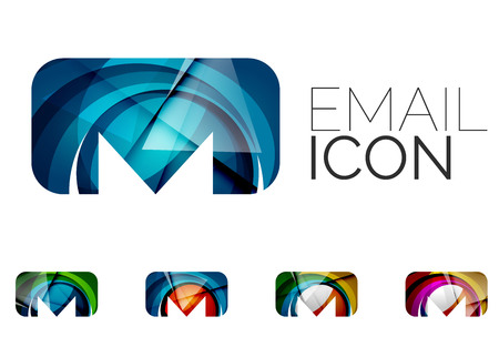 email icons: Set of abstract email icon