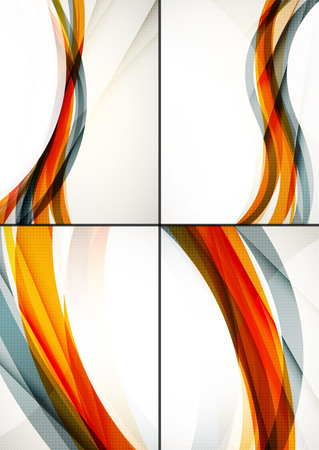 abstract wallpaper: Set of abstract backgrounds. Elegant colorful decorated lines and waves with copyspace for your message. Banner advertising layouts - templates and wallpapers