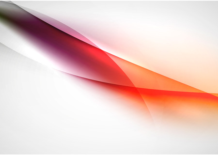 purple abstract background: Abstract background, blurred orange and purple color wave lines in the air. Presentation or advertising layout design template Illustration