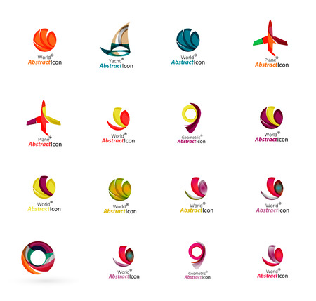 excursions: Set of abstract travel icons