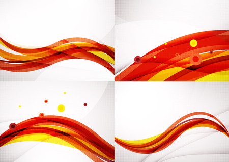 s curve: Set of abstract backgrounds. Elegant colorful decorated lines and waves with copyspace for your message. Banner advertising layouts - templates and wallpapers