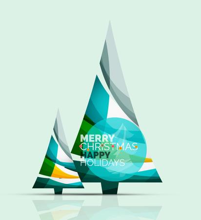 christmas tree illustration: Christmas tree with message board. Vector illustration Illustration