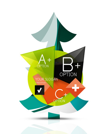 christmas tree illustration: Christmas tree with message board. Vector illustration Illustration