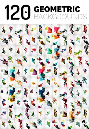 forme: Huge méga collection de forme géométrique abstrait. illustrations vectorielles Illustration