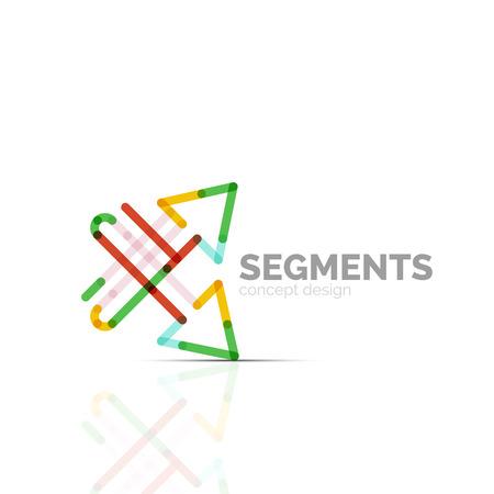 Arrow icon . Company branding element. Illustration Illustration