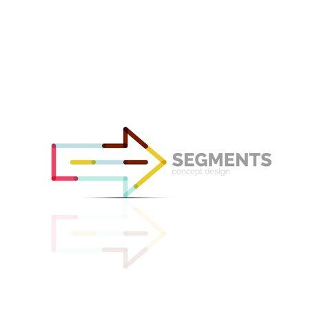 down under: Arrow icon vector . Company branding element. Illustration Illustration