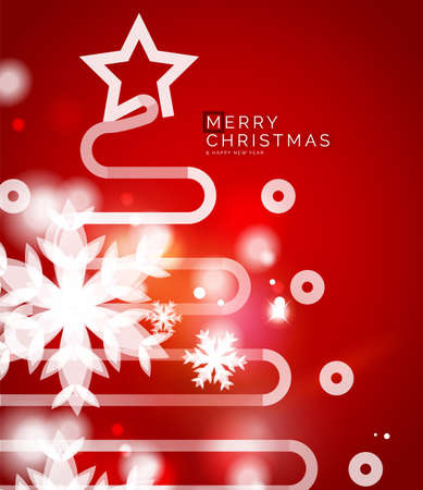 holiday background: Holiday red abstract background