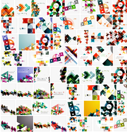 huge: Huge mega collection of abstract geometric paper graphic layouts.