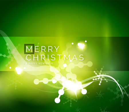 holiday background: Holiday green abstract background