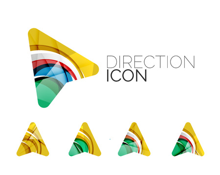 directional arrow: Set of abstract directional arrow icons