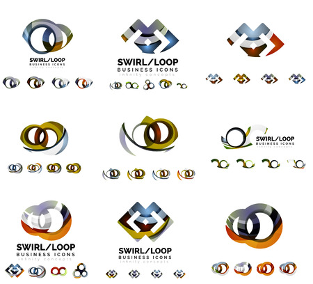 loop: Set of branding designs, swirl infinity loop concept Illustration