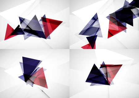 angle: Set of angle and straight lines design abstract backgrounds. Illustration
