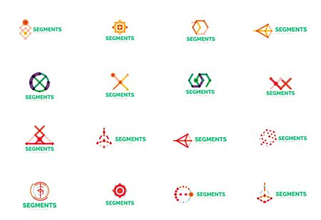 digital design: Abstract line logo collection. Vector illustration