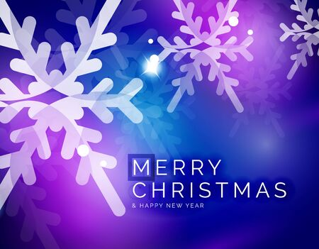 holiday season: Vector Merry Christmas abstract background, snowflakes in the air. Color background for your message