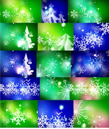 christmas backgrounds: Set of Christmas abstract backgrounds. Vector illustration