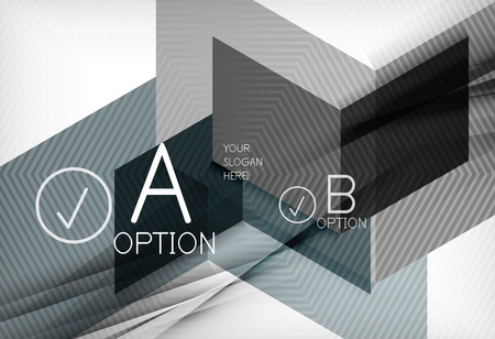 multipurpose: Geometric shapes with option elements. Infographic, message abstract background. Vector illustration