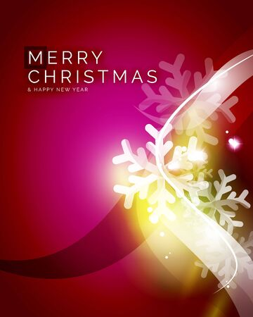 spangle: Vector Merry Christmas abstract background, snowflakes in the air. Color background for your message