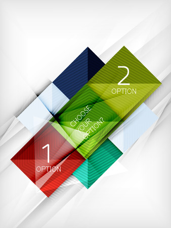 background design: Paper square shapes banner. Vector Illustration