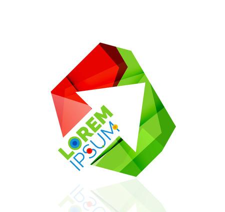 complex navigation: Arrow company logo. Geometric icon