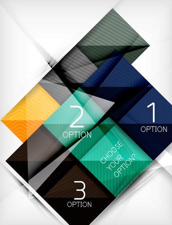 website plan: Paper square shapes banner. Vector Illustration