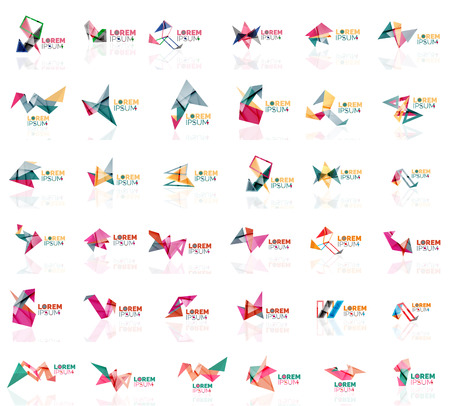 grow up: Grow up arrow origami abstract design template paper creative office icon business company symbol concept. Universal idea Illustration