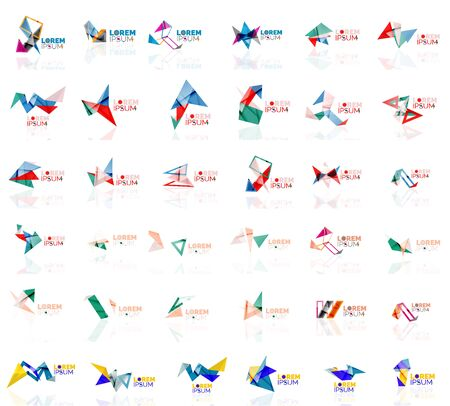 grow up: Grow up arrow origami abstract vector logo design template paper creative office icon business company symbol concept. Universal idea