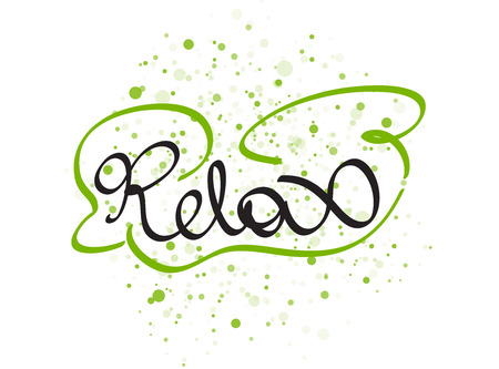 chill: Relax lettering word. Vector illustration