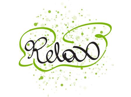 relax garden: Relax lettering word. Vector illustration