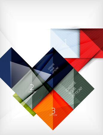 Paper square shapes banner. Vector