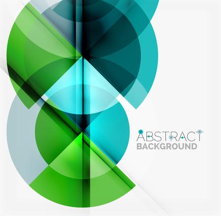 Geometrisch ontwerp abstracte achtergrond - veelkleurige cirkels met schaduweffecten. Frisse zakelijke sjabloon