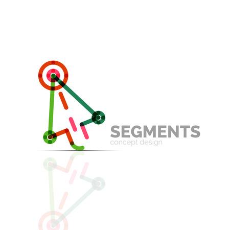 company: Arrow icon vector . Company branding element. Illustration Illustration