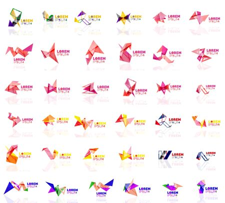 grow up: Grow up arrow origami abstract vector  design template paper creative office icon business company symbol concept. Universal idea