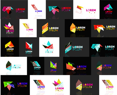 convergence: Triangle geometric shapes, set of abstract . Vector illustration - branding, corporate business company  collection