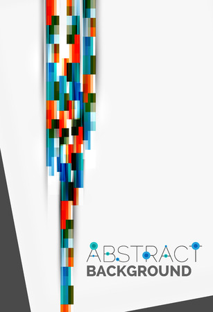 lineas rectas: Geometrical design background, straight lines on white. Vector template Vectores